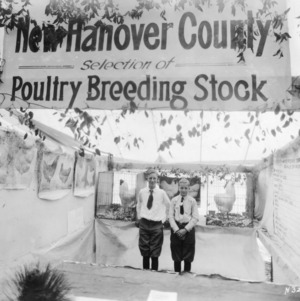 New Hanover County poultry breeding display at North Carolina State Fair