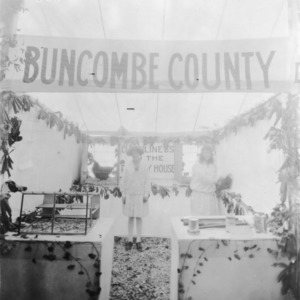 Buncombe County's poultry display at the NC State Fair