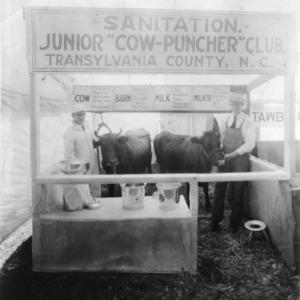 Transylvania County Junior Cow-Puncher Club sanitation display at the North Carolina State Fair