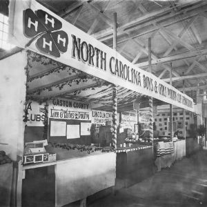 Exhibit demonstrating the work of the North Carolina Boys and Girls Poultry Clubs