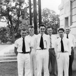Winning Mecklenburg County 4-H dairy cattle judging team, 1940