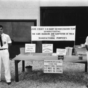 Ashe County dairy demonstration team at North Carolina State 4-H Short Course, North Carolina State College, 1941