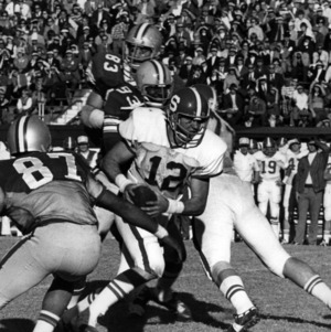 Bruce Shaw during an N. C. State football game