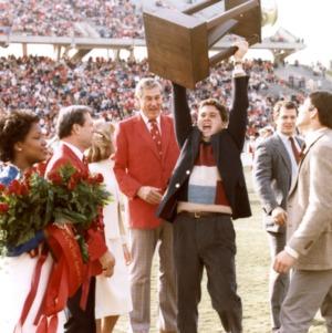 N. C. State celebrating football game win