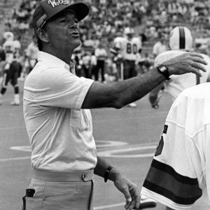 N. C. State coach during a game at University of Pittsburgh
