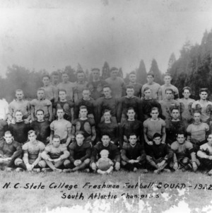 N. C. State College Freshman football squad, 1922