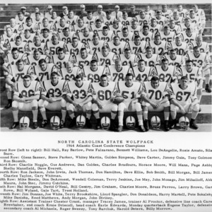 ACC Champions, N. C. State football team, 1964