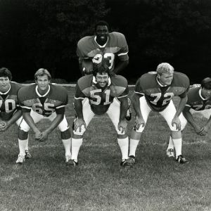Ted Brown and his offensive line