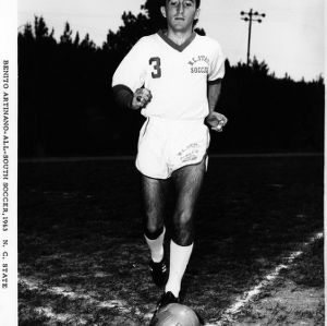 Benito Artinano playing soccer