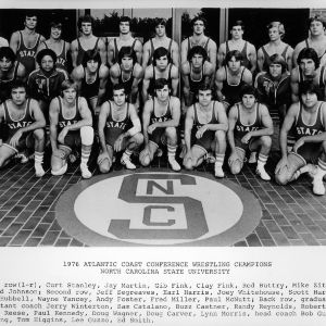 Atlantic Coast Conference wrestling champions N. C. State, 1976