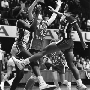 N.C. State's #15 Trena Trice in the heat of action against Northern Illinois