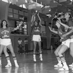 1981-1982 N.C. State University women's basketball practice