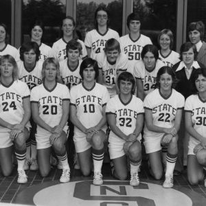 1976-1977 N.C. State University women's basketball team