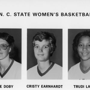 1977-1978 N.C. State University women's basketball -- player portraits
