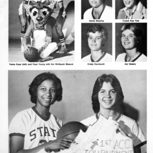 1977-1978 N.C. State University women's basketball portraits