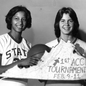 Trudi Lacey and Ginger Rouse, N.C. State women's basketball team, 1978-1979