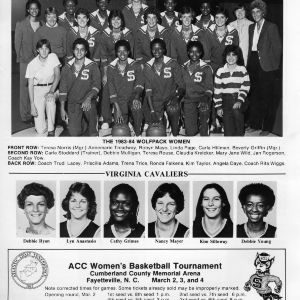 ACC Women's Basketball Tournament program, 1984