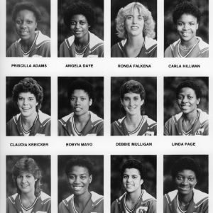 1983-1984 N.C. State University women's basketball team individual portraits