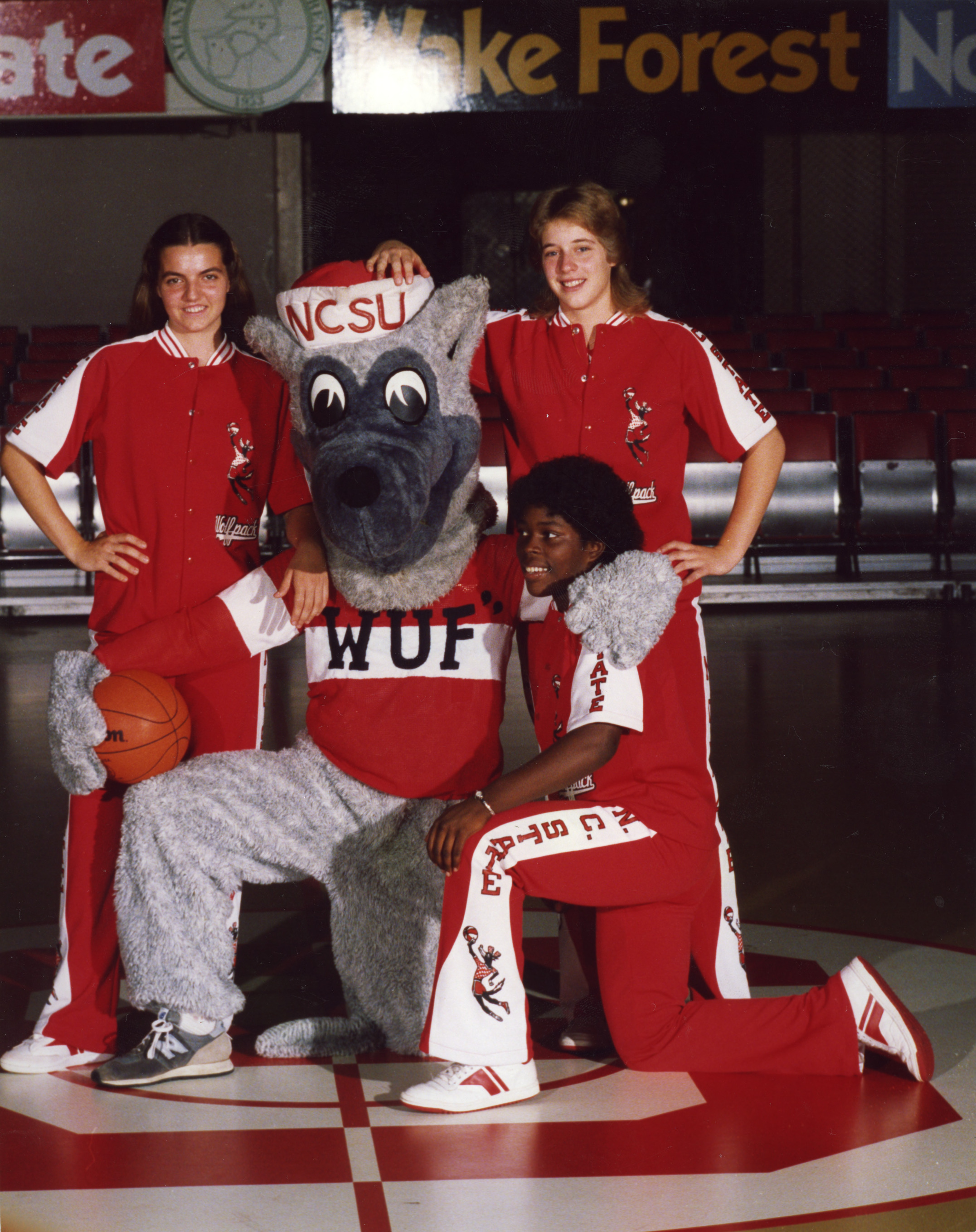 "Women's basketball freshmen with ""Wuf"""