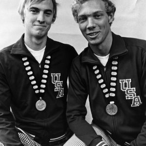 Steve Gregg and Dan Harrigan, Pan American Games medalists for swimming