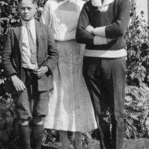Three 4-H club members standing at the North Carolina State Fair of 1923