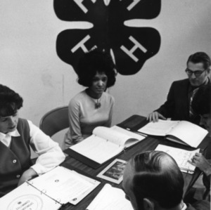 4-H leaders attending a meeting of the 4-H sponsering committee