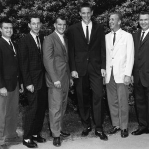 Collegiate 4-H Club officers of 1962-1963 standing outside