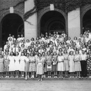 4-H club members standing at North Carolina State College