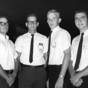 Four 4-H club members attending Club Week at North Carolina State College