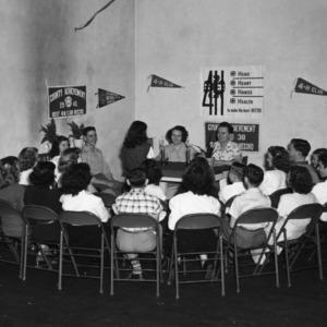 4-H club members attending a club meeting