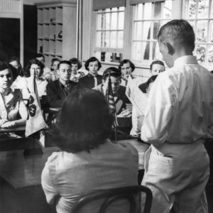 4-H club members attending a 4-H club meeting