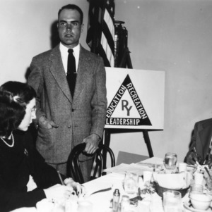 4-H club members attending the 4-H club Banquet in Clinton, North Carolina, March 1948