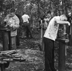 A class in forestry at the State 4-H Forestry Camp in 1959