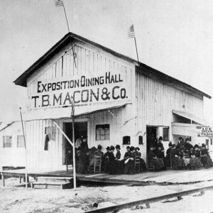 Dining hall for the Exposition of 1884, on Hillsborough Street