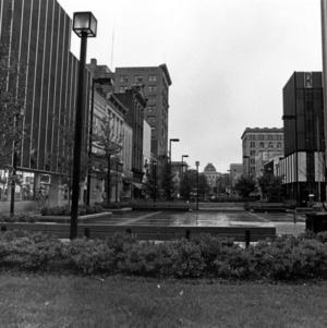 Fayetteville Street Mall, looking north towards the State Capitol
