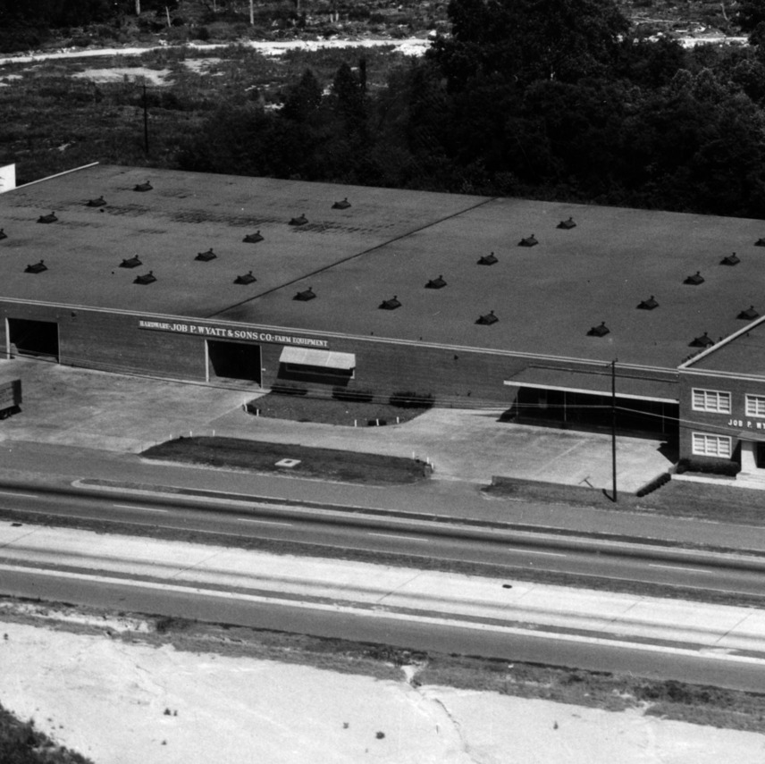 Aerial photograph of the Job P. Wyatt and Sons Co. on Capital Blvd.