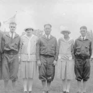 4-H leaders at first National 4-H Conference, United States Department of Agriculture, 1927. L. R. Harrill, third from right