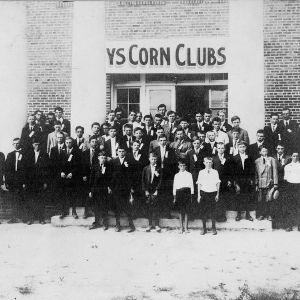 Members of the Robeson County Corn Club attending the 1914 Short Course at the Farm Life School in Philadelphus.