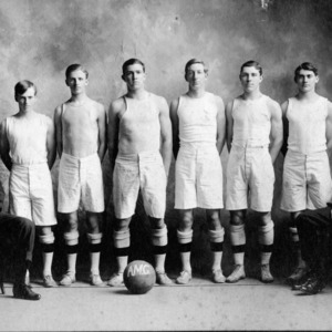 North Carolina College of Agriculture and Mechanic Arts basketball team, 1909-1910.