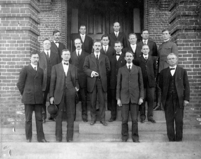 President D. H. Hill and faculty