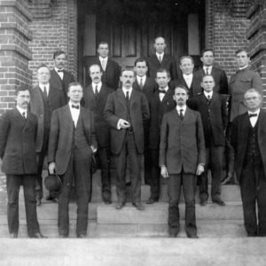 President D. H. Hill and staff, North Carolina College of Agriculture and Mechanic Arts.
