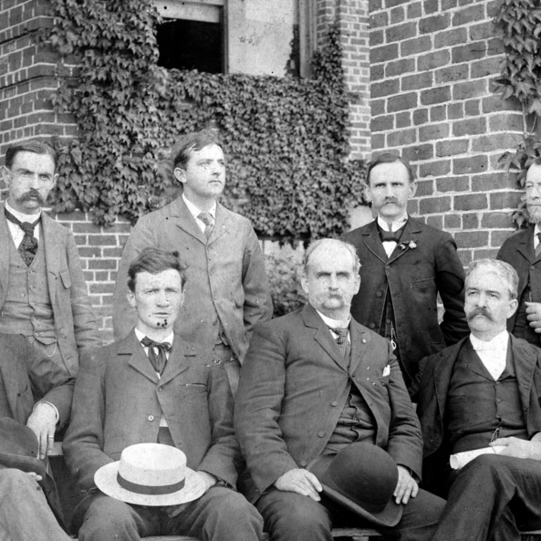 President Alexander Q. Holladay (center) and faculty of North Carolina College of Agriculture and Mechanic Arts, April 28, 1896.