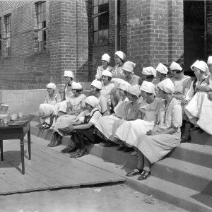 Demonstrating bread making to club members, Weeksville, Pasquotank County, N.C., May 19, 1924.