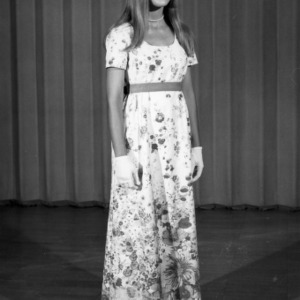 4-H club member participating in the 4-H Dress Revue