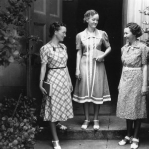 Three 4-H club members from Vance County, North Carolina, participating in the 4-H Dress Revue
