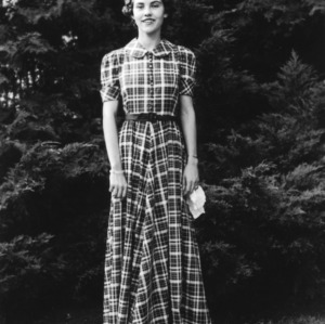 4-H club member participating in the North Carolina State 4-H Dress Revue in October 1937