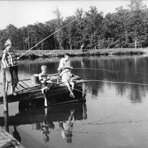 Children fishing at Millstone 4-H Camp