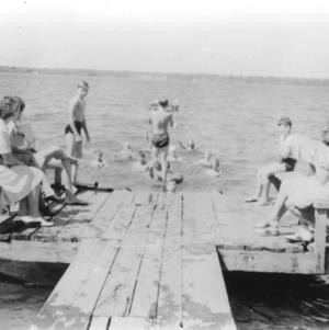 4-H club members swimming at White Lake 4-H Camp