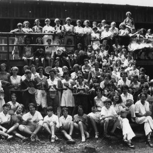4-H Club camp, Swannanoa, N.C., basketmaking, girls from Buncombe, Madison, Rutherford Counties, July 14-18, 1930