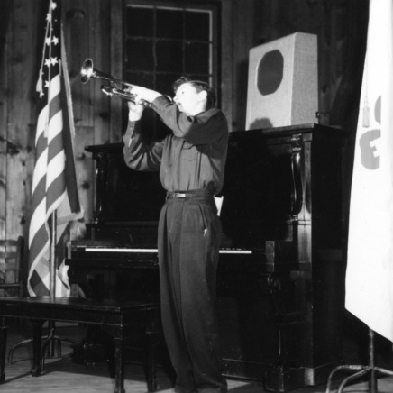 4-H club member playing the trumpet